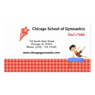 Gymnastics School (Red) Pack Of Standard Business Cards