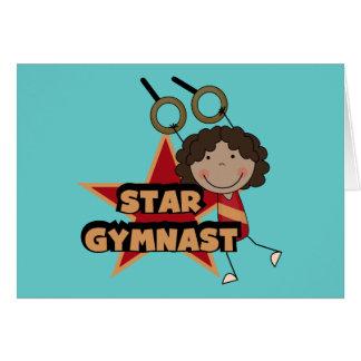 GYMNASTICS - Star Gymnast Tshirts and Gift Greeting Card