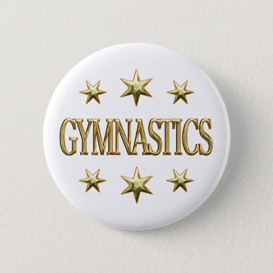 Gymnastics Stars 6 Cm Round Badge