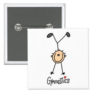 Gymnastics Stick Figure Button
