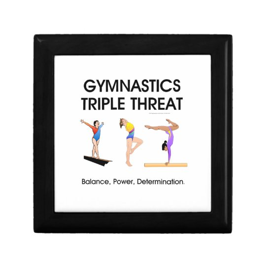 Gymnastics Triple Threat Small Square Gift Box