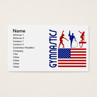 Gymnastics United States Business Card