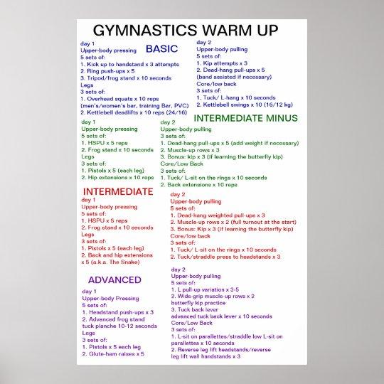 Gymnastics Warm-Up Poster
