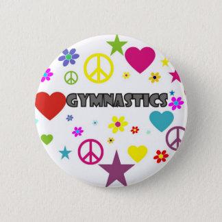 Gymnastics with Mixed Graphics 6 Cm Round Badge