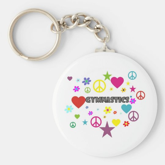 Gymnastics with Mixed Graphics Key Ring