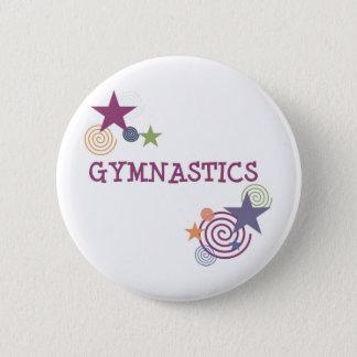 Gymnastics with Swirly Star 6 Cm Round Badge