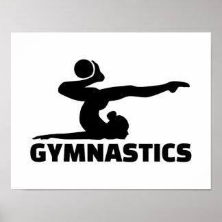 Gymnastics woman poster