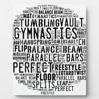 Gymnastics Word Cloud Plaque