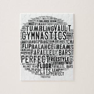 Gymnastics Word Cloud Puzzle