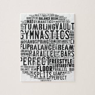 Gymnastics Word Cloud Tumbling Puzzle