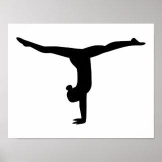Gymnastics yoga poster