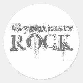 Gymnasts Rock Round Sticker