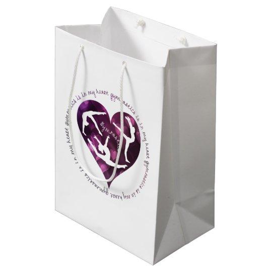 Gymnstics is in My Heart Custom Gift Bag