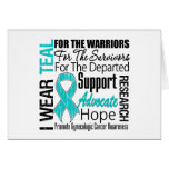 Gynaecologic Cancer I Wear Teal Ribbon TRIBUTE Greeting Cards