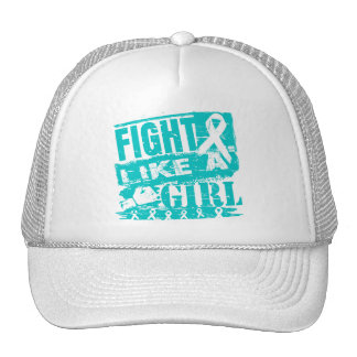 Gynecologic Cancer BurnOut Fight Like a Girl Mesh Hats