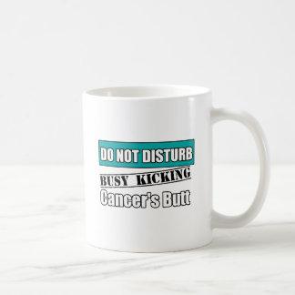 Gynecologic Cancer Do Not Disturb Kicking Butt Coffee Mug