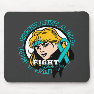 Gynecologic Cancer Fight Like A Girl Attitude Mouse Pad