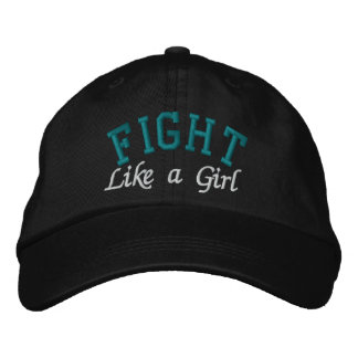 Gynecologic Cancer - Fight Like a Girl Embroidered Baseball Cap