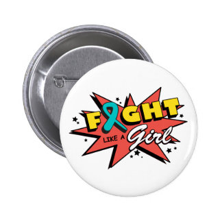 Gynecologic Cancer Fight Like A Girl POW! Pins