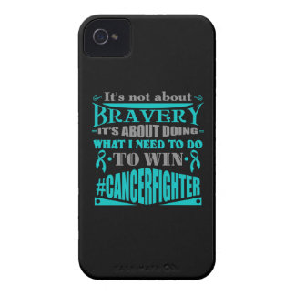 Gynecologic Cancer Not About Bravery Case-Mate iPhone 4 Case