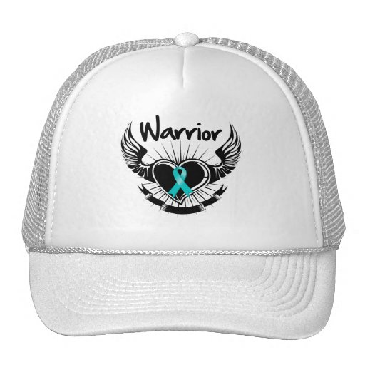 Gynecologic Cancer Warrior Fighter Wings Trucker Hat