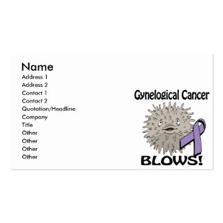 Gynelogical Cancer Blows Awareness Design Pack Of Standard Business Cards