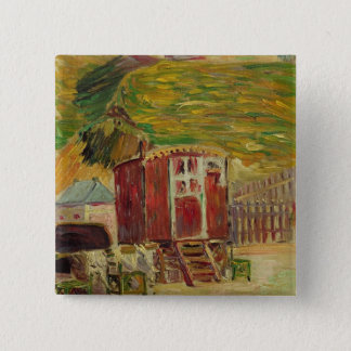 Gypsies at Port-en-Bessin, 1883 (oil on canvas) 15 Cm Square Badge