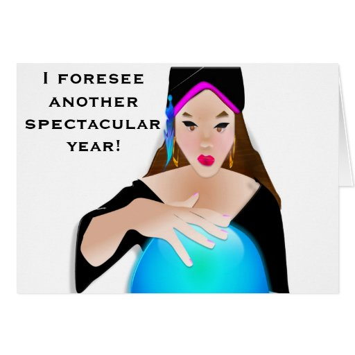 Gypsy Birthday Card -Fortune Teller