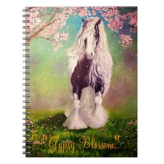 """""""Gypsy Blossom"""" Vanner horse, stallion Notebook"""