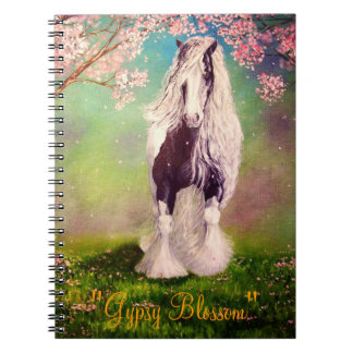"""Gypsy Blossom"" Vanner horse, stallion Notebooks"
