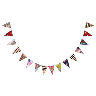 Gypsy, boho style, multiple colours and designs bunting