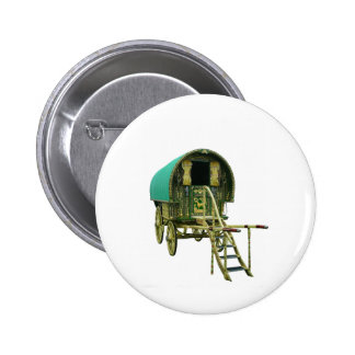 Gypsy bowtop caravan 6 cm round badge