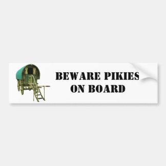 Gypsy bowtop caravan bumper sticker