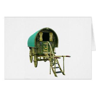 Gypsy bowtop caravan card