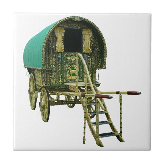 Gypsy bowtop caravan small square tile
