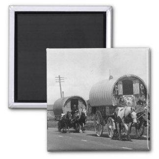 Gypsy Caravan Square Magnet