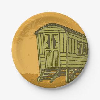Gypsy caravan wagon 7 inch paper plate