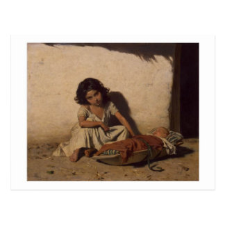 Gypsy Children postcard