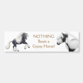 Gypsy Cob Horse Bumper Sticker