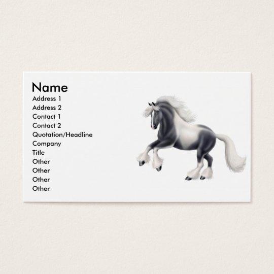 Gypsy Cob Horse Business Card
