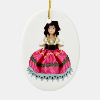 Gypsy Doll Christmas Ornament