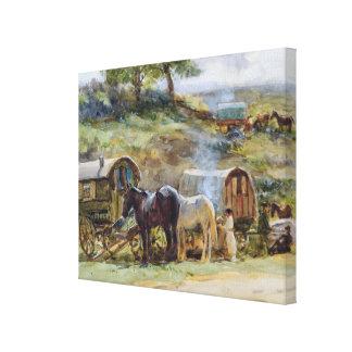 Gypsy Encampment, Appleby, 1919 Canvas Print