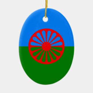 Gypsy flag christmas ornament