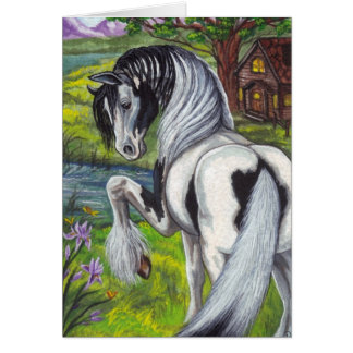 GYPSY HORSE Cabin Note card
