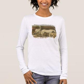 Gypsy Horses, c.1885-90 (oil on canvas) Long Sleeve T-Shirt