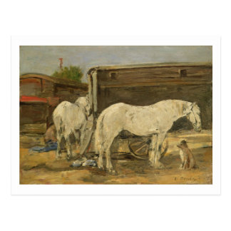 Gypsy Horses, c.1885-90 (oil on canvas) Postcard
