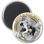Gypsy Horses Rock 6 Cm Round Magnet