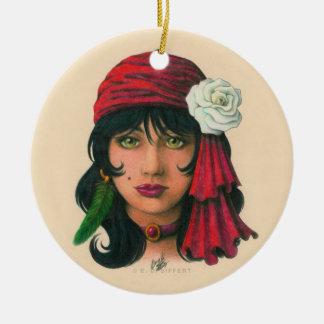 Gypsy II Round Ceramic Decoration