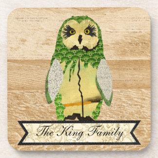 Gypsy Jade Owl Personalised  Coaster