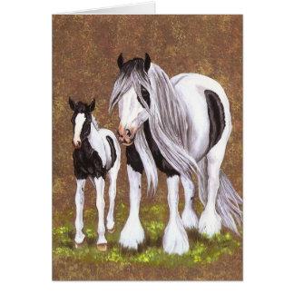 Gypsy Mare & Foal Card